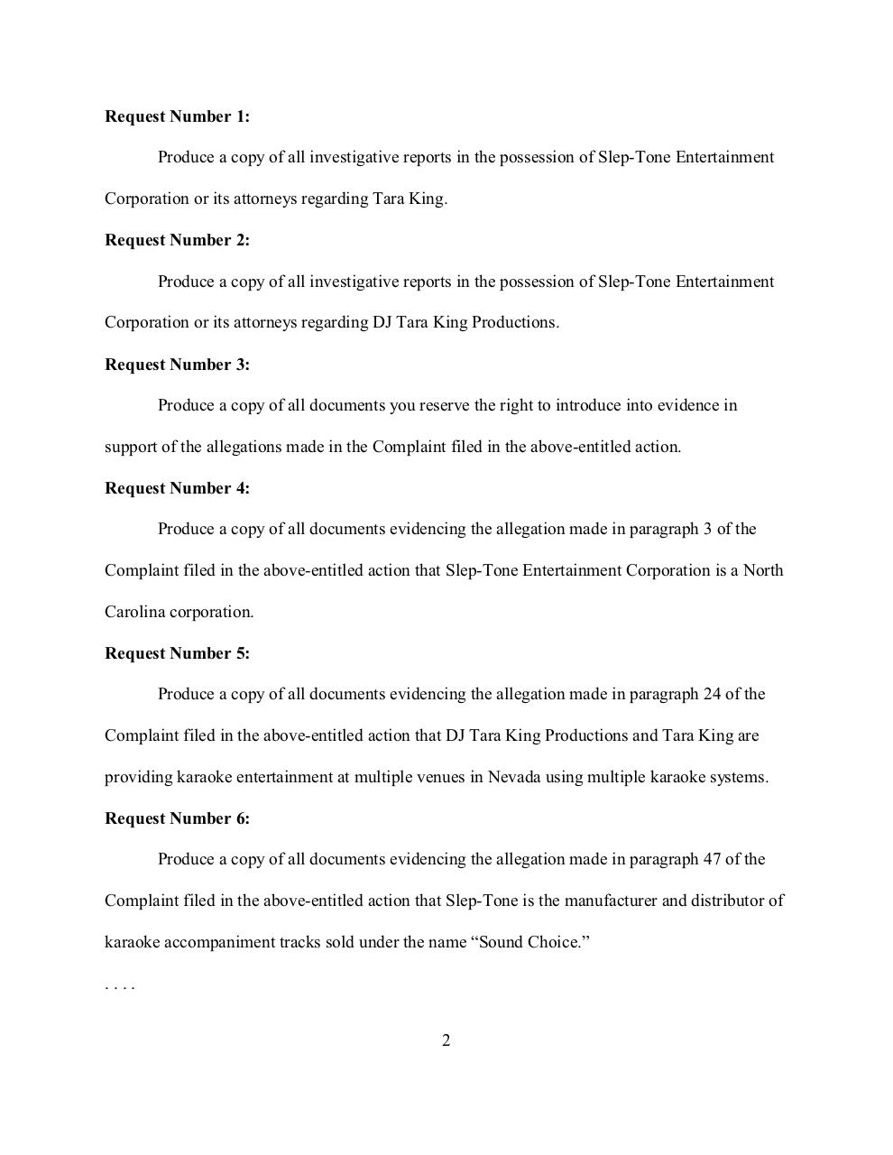 Tera King Production Requests.pdf - page 2/15