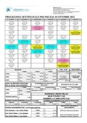 piscina agym dal 1 ottobre 2012