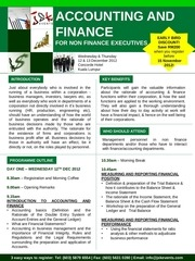 finance for non finance 12 13 dec 2012