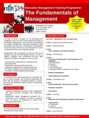 the fundamentals of management 24 25 oct 2012