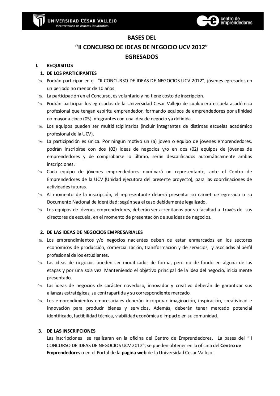 Document preview BASES DEL CONCURSO-2012 - EGRESADOS.pdf - page 1/4