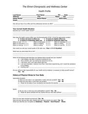 health profile 1