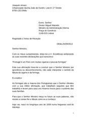 portugal carta ao ministro administrac o interna