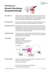 PDF Document einladung zum kreativ workshop