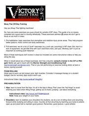 muay thai off day training guide