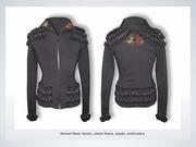 cotton fleece jacket project