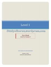 lesson 1 level 1