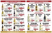 thanksgiving ad upstate wine spirits co