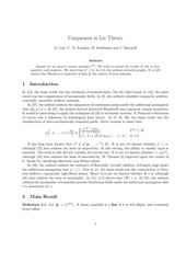 PDF Document uniqueness in lie theory
