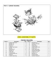 z200 assembly parts list