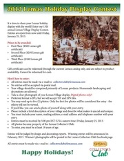 2012 holiday contest entry form