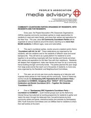 media advisory community countdown parties 2013