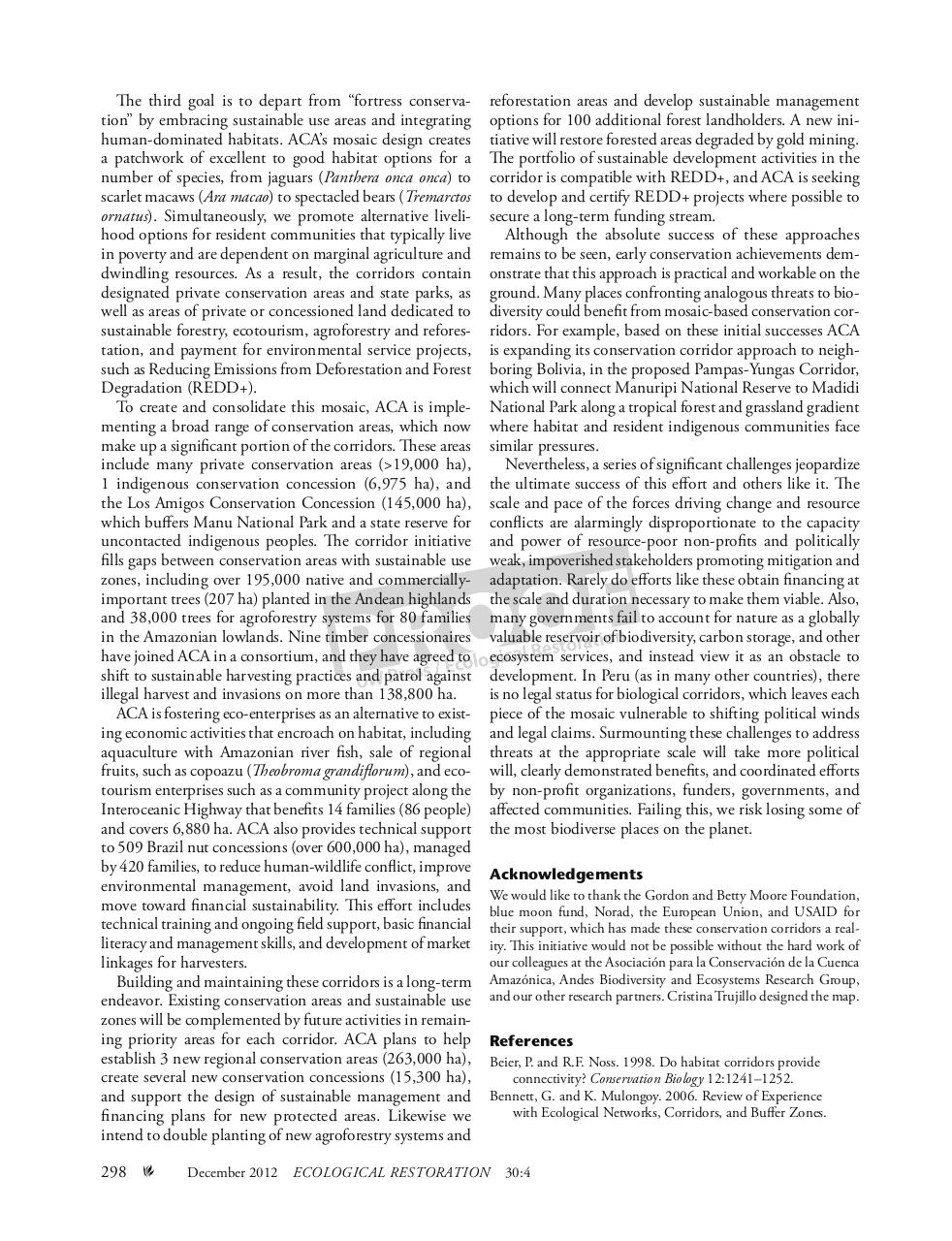 Rosenthal Stutzman Forsyth_Ecological Restoration_Mosaic Conservation Corridors_2012.pdf - page 3/4