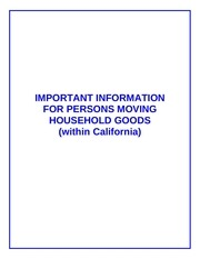 important information for persons moving household goods