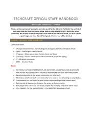 techcraft oshb