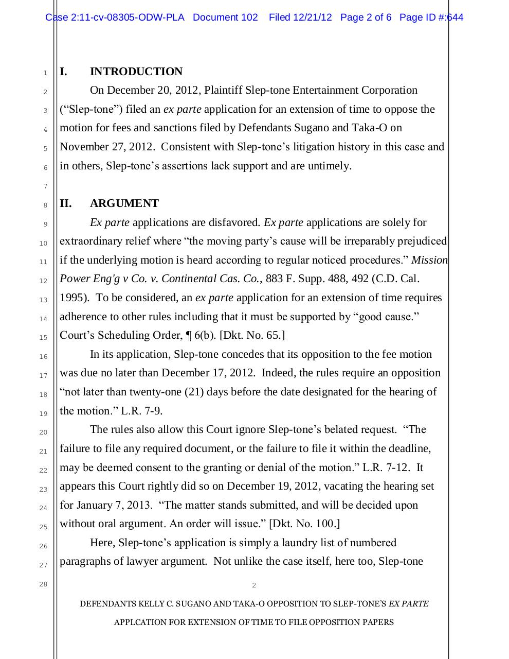 102 - Opposition to application for extension of time.pdf - page 2/6