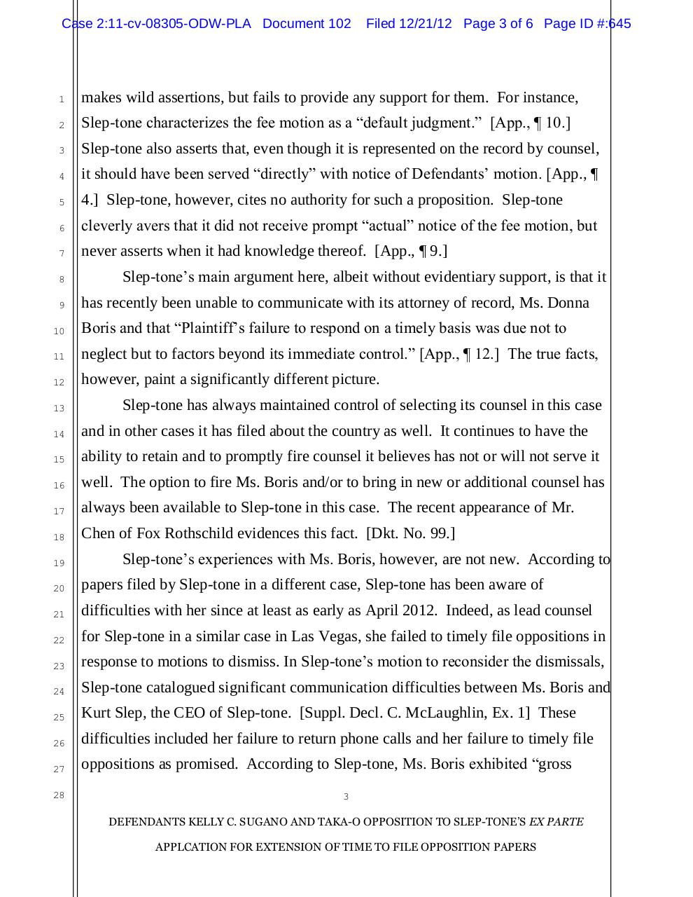 102 - Opposition to application for extension of time.pdf - page 3/6