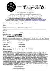 2013 membership application