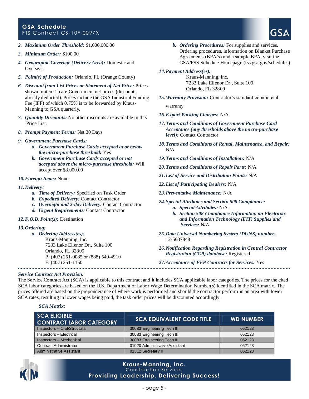 Document preview GSA SCHEDULE CONTRACT.pdf - page 5/5