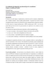 PDF Document chakor tarik la ra alisation du diagnostic psychosocial par les consultants enjeux et conflits pra ventifs doc rouen 1