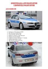specyfikacja aut policyjnych