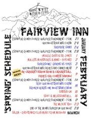 2013 1 fairview music schedule