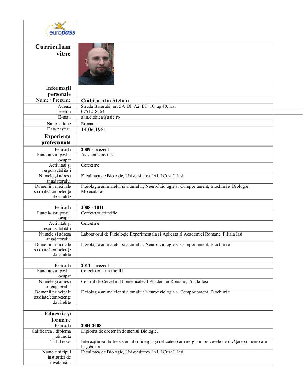 ciobica alin cv pdf archive