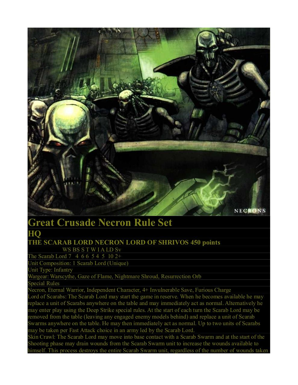 Great Crusade Necron Rule Set 3.3.pdf - page 1/16