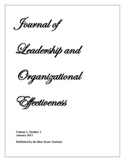 january 2013 journal of leadership and organizational effectiveness vol 1 1