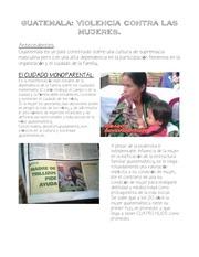 guatemala violencia factor mujeres