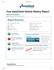 a4 vehicle history report