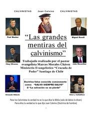 las mentiras del calvinismo son herejias 1