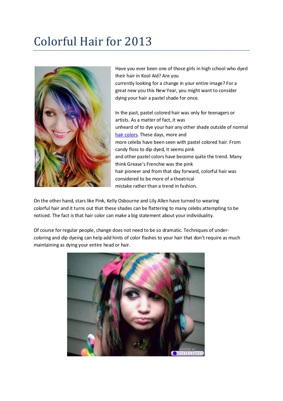 Colorful Hair for 2013.pdf - page 1/2