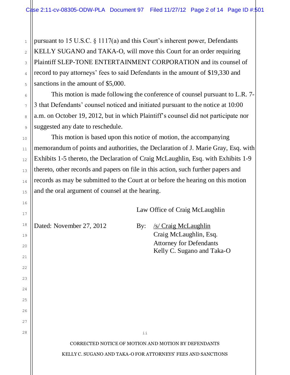 Motion for Attorney's Fees and Sanctions.pdf - page 2/14