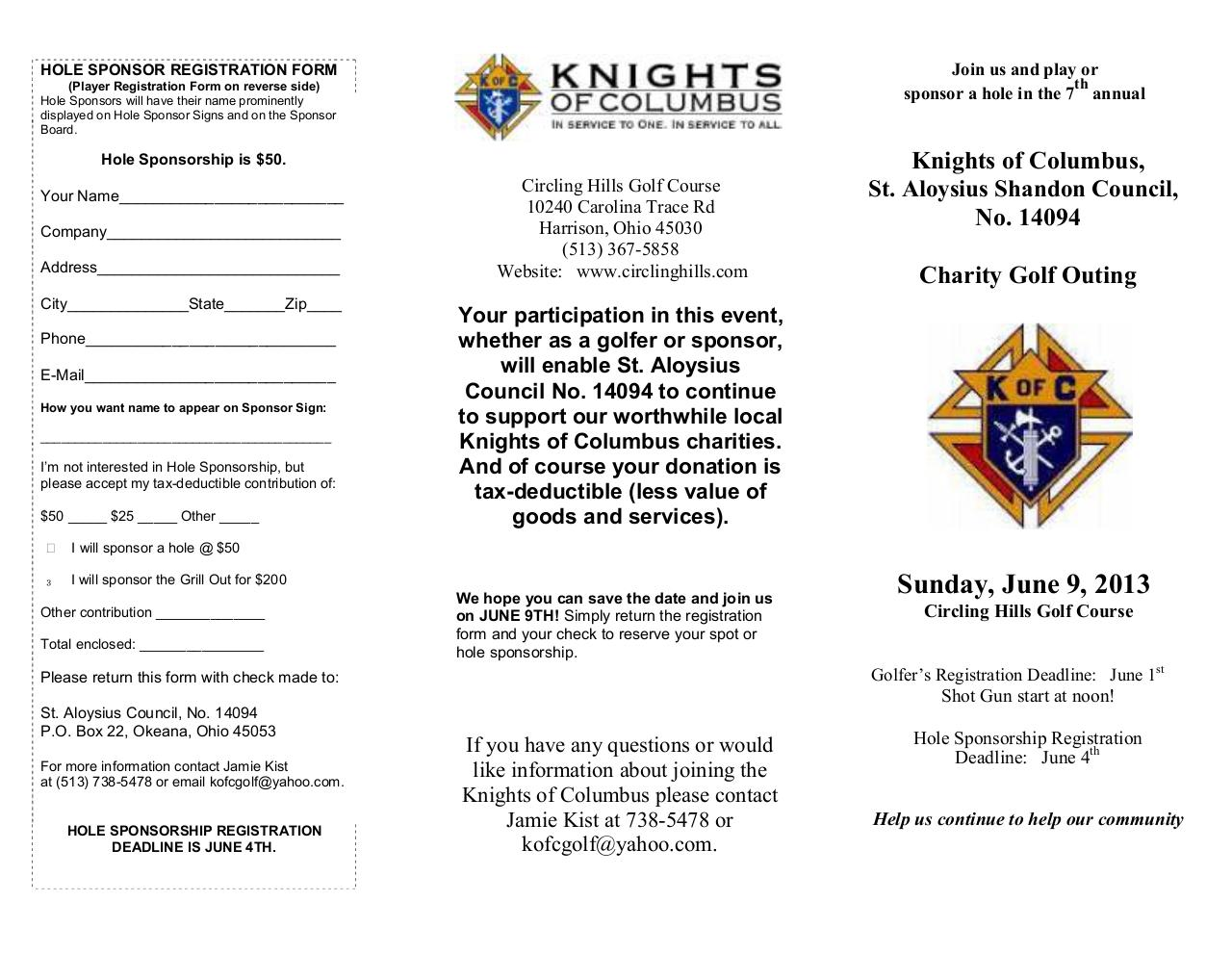 Document preview St. Aloyisuis KofC Golf Outing 2013.pdf - page 2/2