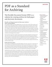 pdfarchiving