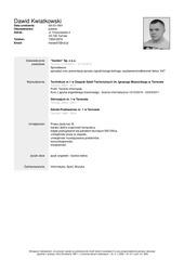 dawid kwiatkowski curriculum vitae