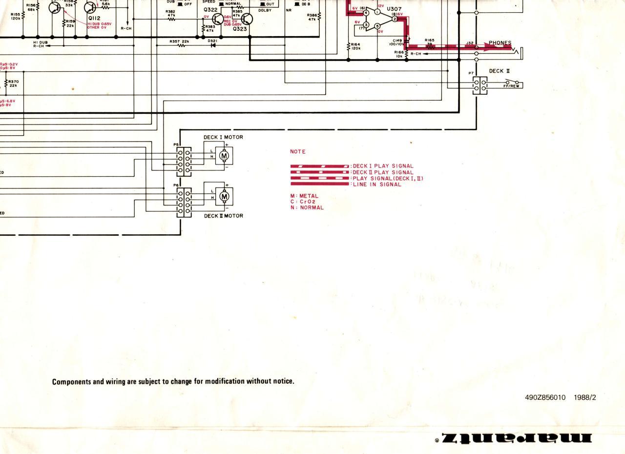 Marantz Sd285 Schematic Diagram