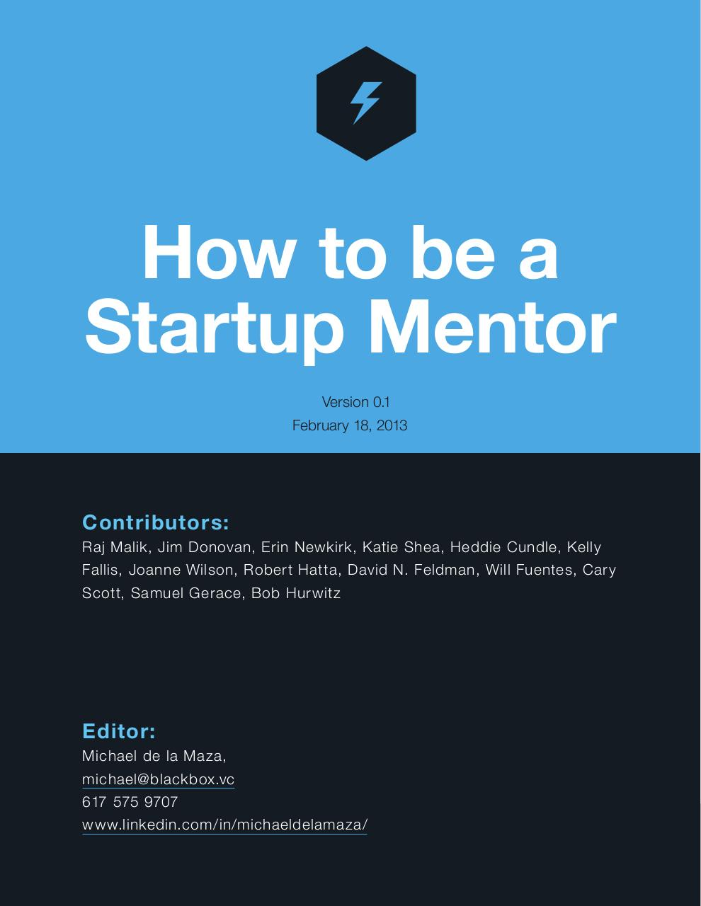 How to be a Startup Mentor.pdf - page 1/48