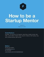 how to be a startup mentor