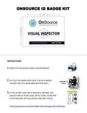 visual inspector badge