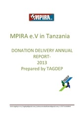 PDF Document donation delivery report