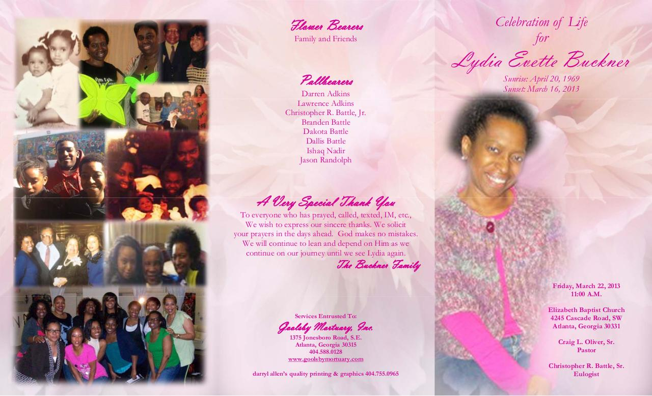 Celebration of Life for Lydia Evette Buckner.pdf - page 1/2