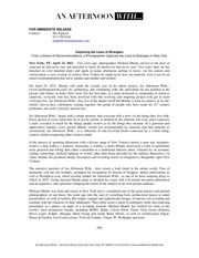 PDF Document an afternoon with press release