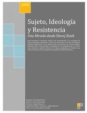 zizek sujeto ideologia y resistencia