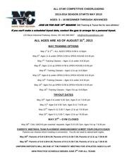 2013 maytryoutschedule