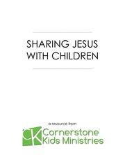 sharing jesus with children e book