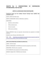 convocatorias cooperacion investigacion