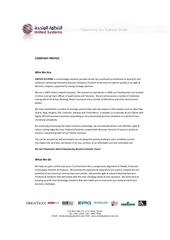 united systems company profile