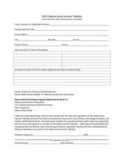2013 farmers market application